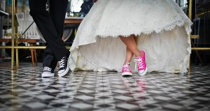Wedding day running shoes