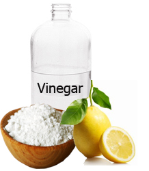baking soda and vinegar used for cleaning